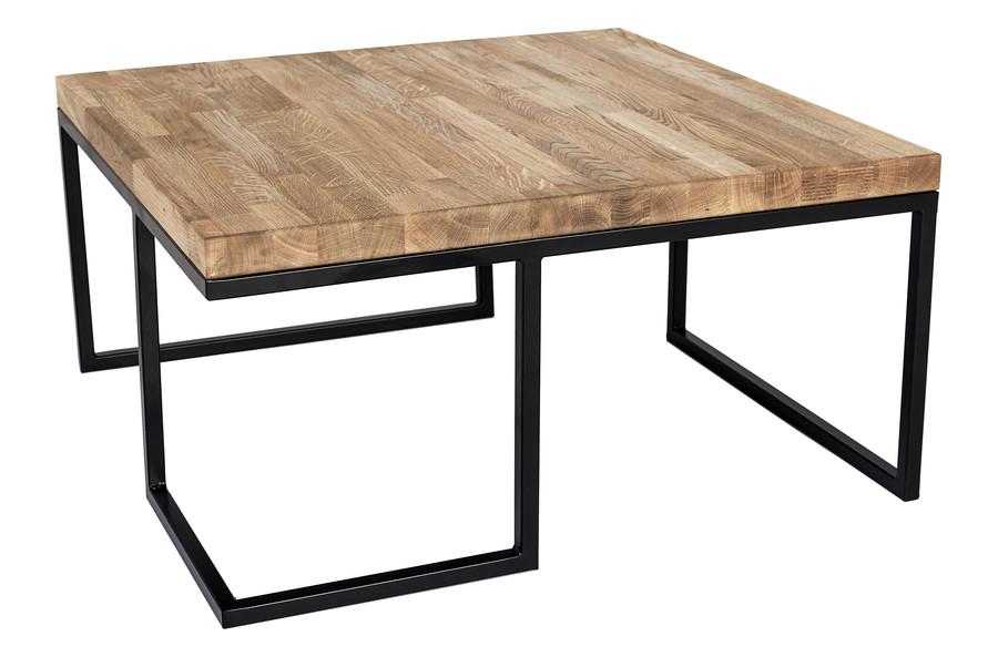 Tisch aus Metall mit Holz Eichenplatte Loft Modell 471