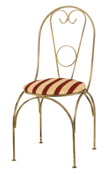 Stuhl aus Metall mit Polsterung Modell 69A